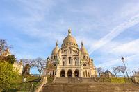 Paris France, city skyline at Sacre Coeur (Basilica of the Sacred Heart)