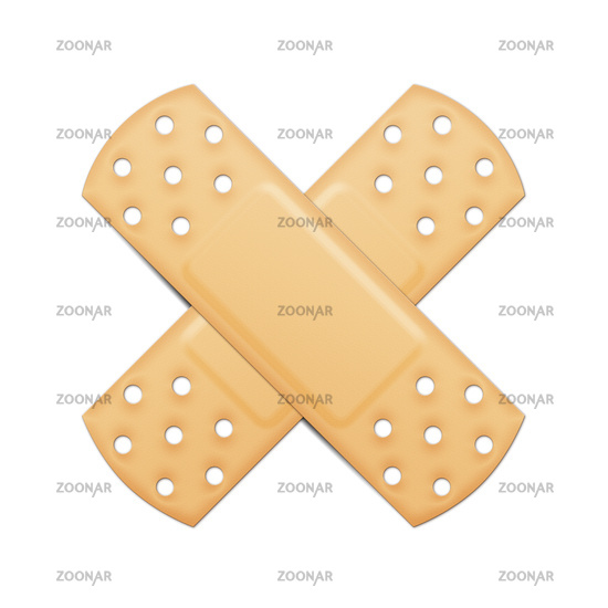 typical plaster cross symbol with clipping path