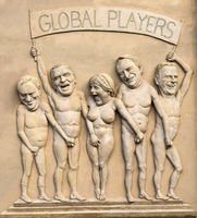The 'Global Players' is a Art relief from Peter Lenk at Bodman-Ludwigshafen