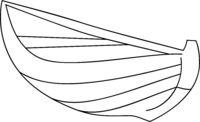 Wooden Boat Icon Vector