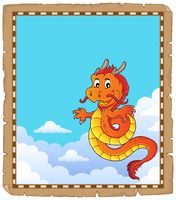 Chinese dragon topic parchment 4
