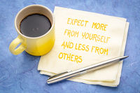 expect more from yourself  - inspirational handwriting