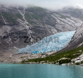 Nigardsbreen Glacier from far, Norway