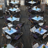 Tables of a excursion restaurant