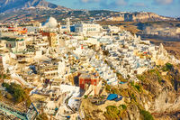 Panoramic view of Thira town