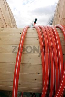 NRW 4.0, Rollen mit Glasfaserkabel zum Verlegen in strukturschwachen Gebieten