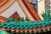 Chinese temple roof ornaments