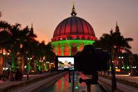 Night Shot, The world's largest dome at Maharashtra Institute of Technology, MIT, Loni Kalbhor, Pune