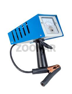 Analog car battery tester, power test load fork.