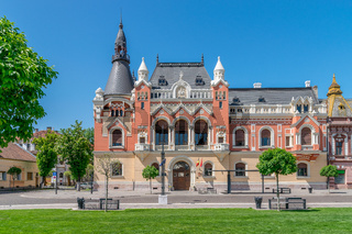 The Greek Catholic Bishop Palace in the center of Oradea, Romania, Crisana Region
