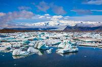 Drift ice Ice Lagoon.