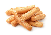 Pile of breadsticks with sesame