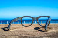 Sculpture of glasses at Cape Town waterfront, South Africa