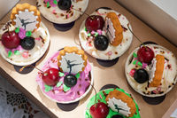 cupcakes on box
