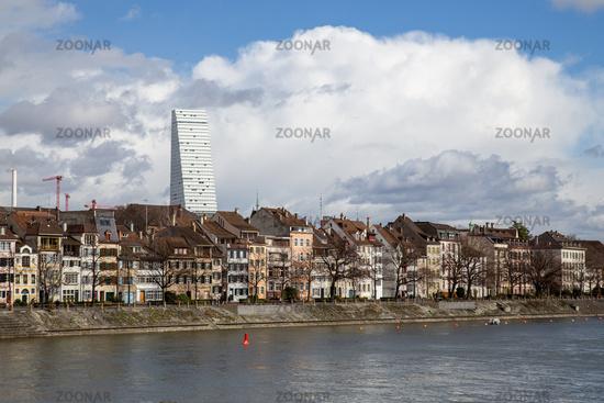 Rhine Riverfront in Basel, Switzerland