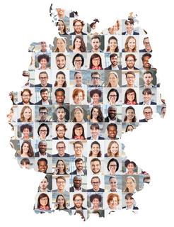 Deutschland Karte Business Portrait Collage