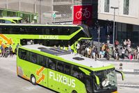 Flixbusse at the bus terminal