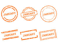 January Stempel - January stamps