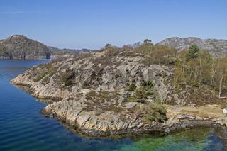 Coastal landscape at Tranevag