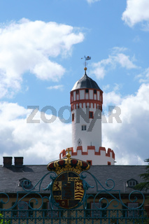 Toreinfahrt mit Wappen Schloss Homburg