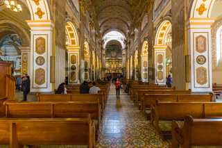 cathedral temple Pasto Colombia internal view central nave