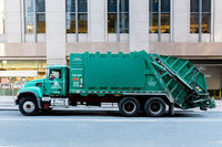 Garbage Truck in the streets of Manhattan, NYC
