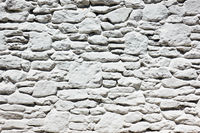 White wall - masonry of whitewashed stones
