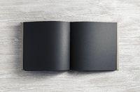Blank black booklet