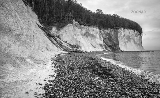 Cretaceous rock near Sassnitz - Island of Ruegen