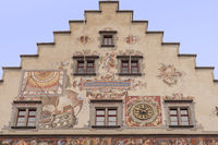 Gable with facade painting, Old Town Hall of Lindau, Lindau island
