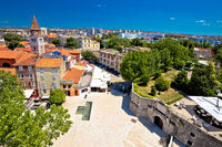 City of Zadar landmarks and cityscape aerial view