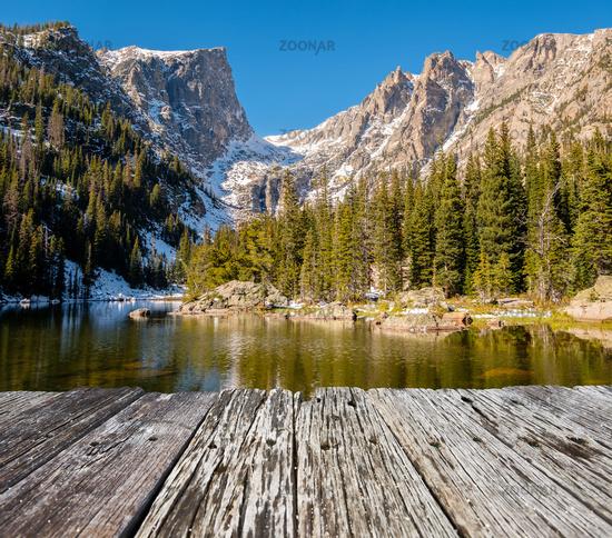 Dream Lake, Rocky Mountains, Colorado, USA.