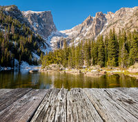 Dream Lake, Rocky Mountains, Colorado, USA.