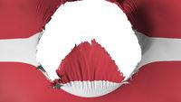Big hole in Latvia flag