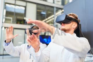 Forscher trainieren mit einer Virtual Reality Brille