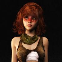 3D Illustration of a Fantasy Woman, Digital Model