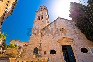 Town of Cavtat stone church view