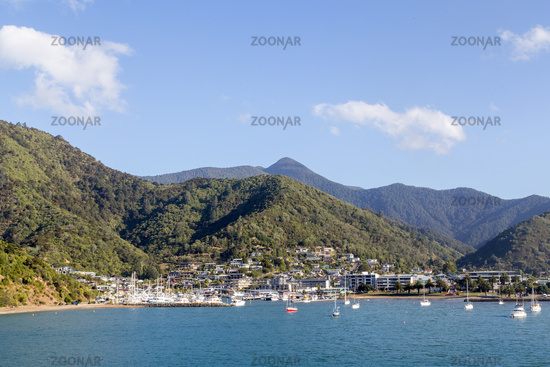 Scenic view of Picton in New Zealand