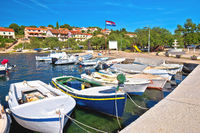 Luka on Dugi Otok island harbor and waterfront view