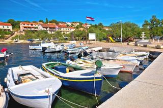 Luka on Dugi Otok island harbor and waterfront view
