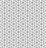 Seamless geometric pattern inspired by Japanese Kumiko ornament .Black white.
