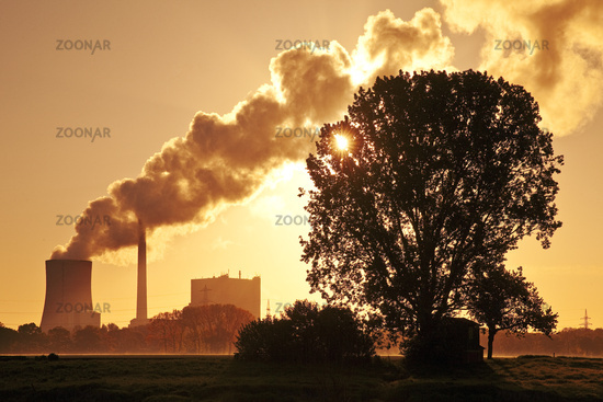 hard coal-fired power station Heyden, global warming, coal phase-out, Petershagen, Germany Europe