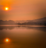 Sunrise over Xuan Huong Lake, Dalat, Vietnam