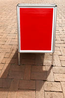 blank customer stopper sign with copy space