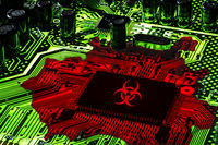 Digital Plague, hacking and virus technology concept