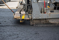 asphalting new road