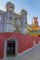 The Pena Palace near Sintra, Portugal, Europe