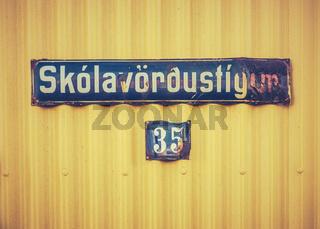 Icelandic Street Sign