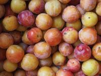 prune fruit food background