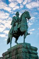 Equestrian statue in Cologne